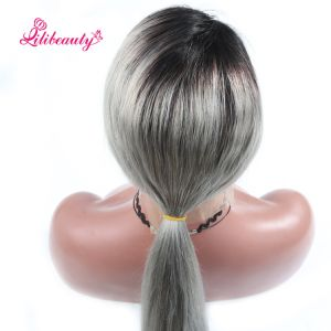 Wigs Ombre Grey Glueless Lace Front Wig with Baby Hair 130% Density Human Hair Wig for Black Women Remy Hair pictures & photos