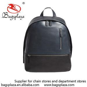 Bk5025 American Style Man Woman Plain PU Laptop Backpack Bag