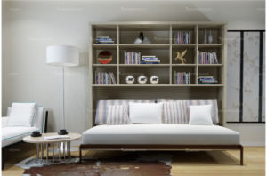 Horizotal Tilting Murphy Wall Bed with Cabinets pictures & photos