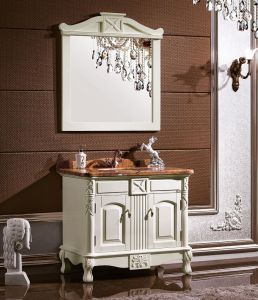 Ancient Style Bath Cabinet Made of Solid Wood pictures & photos