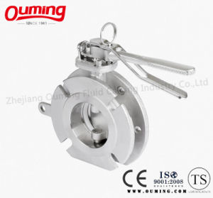 Stainless Steel Flange Wafer Butterfly Valve pictures & photos