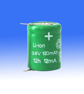 Naccon Li-ion Rechargeable Batteries and Pack (Lion-3.6V-120mAh) pictures & photos
