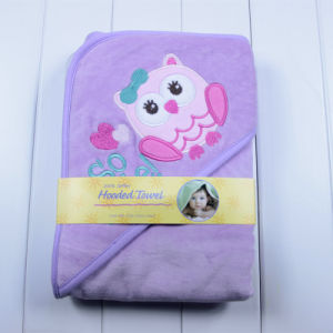 Baby Velvet Swaddle Blanket Hooded Towel Poncho pictures & photos