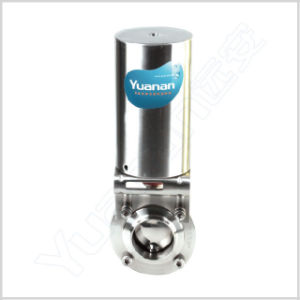 Sanitary Stainless Steel Tri Clamp Pneumatic Butterfly Valve pictures & photos