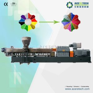 PP+Pigment+Additives Twin Screw Extruder for Granulating pictures & photos