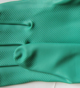 Green Nitrile Gloves Industrial Safety Work Glove pictures & photos