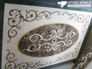 Natural Marble Stone Waterjet Medallion for Hotel Hall pictures & photos