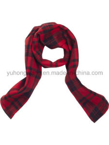 Promotion Winter Warm Knitting Printed Polar Fleece Scarf pictures & photos