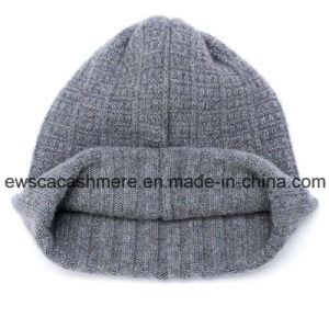 Men′s Top Grade Pure Cashmere Beanie Hat A16mA2-001 pictures & photos