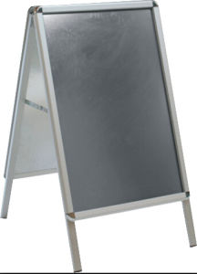Aluminum Free Standing Poster Stand with Aluminum Bond, Composite Board