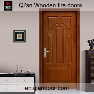 Sapelli Skin Wood Skeleton Infilling Wooden Fireproof Door pictures & photos