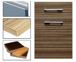China Laminate Woodgrain MDF Cabinet Doors with Edge Banding (zhuv ...