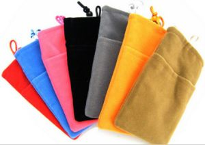 Custom Colorful Velvet Neck Pouch for Phone pictures & photos