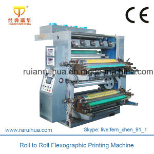 Two Colors Flexographic Printing Machine for Plastic Bag pictures & photos