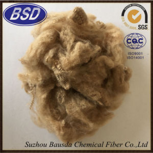 Regenerated Dope Dyed Polyester Staple Fiber PSF for Yarns pictures & photos