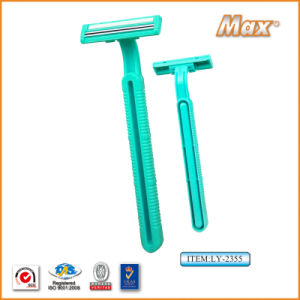The Most Professional Manufacture for Twin 6cr16 Stainless Steel Blade Disposable Razor (LY-2355) pictures & photos