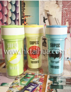 Double Wall Custom Printed Plastic Cup with THP-029 pictures & photos