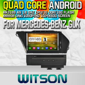 Witson S160 Car DVD GPS Player for Mercedes-Benz Glk (2008-2010) with Rk3188 Quad Core HD 1024X600 Screen 16GB Flash 1080P WiFi 3G Front DVR DVB-T (W2-M266) pictures & photos