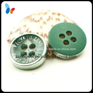 Custom Fancy Laser Engraved 4 Holes Resin Button for Fashion Shirt pictures & photos