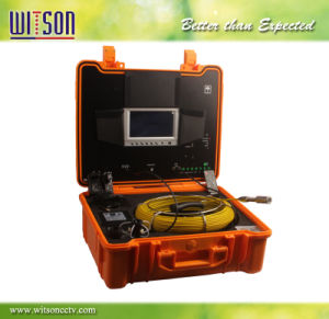 Witson Drain Pipe Camera with Push Rod Wheel 30m Fiberglass Cable pictures & photos