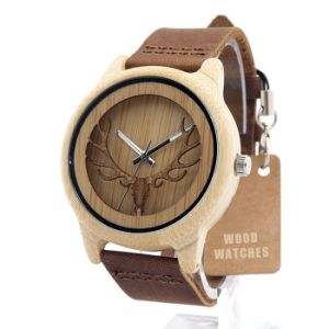 New Environmental Protection Japan Movement Wooden Fashion Watch Bg429 pictures & photos