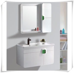 PVC Bathroom Hanging Cabinet with Mirror pictures & photos