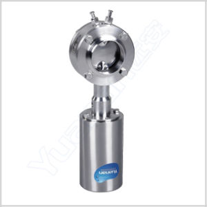 Sanitary Pneumatic Leakage Proof Butterfly Valve pictures & photos