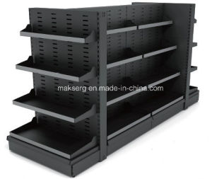 Powder Coated Metal Bookstore Shelving Adjustable Panel Display Stand pictures & photos