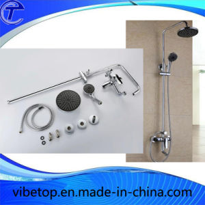 Good ABS Plastic Chrome Plated Bath Raindrop Shower Set Rainfall pictures & photos