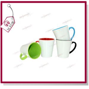 12oz Two Tone Color Sublimation Cone Shape Coffee Mug pictures & photos