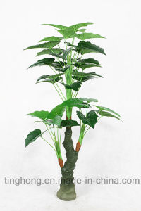 Home Decoration Artificial Tree with 36 Taro Leaves
