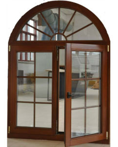 European & America Casement Style Aluminium Wood Window (TS-1056) pictures & photos