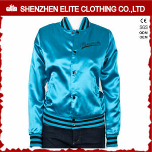 Plus Size Custom Embroidery Satin Varsity Jackets for Women pictures & photos