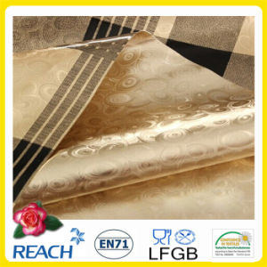 137cm PVC Golden and Emboss Tablecloth for Home/Party/ Outdoor pictures & photos