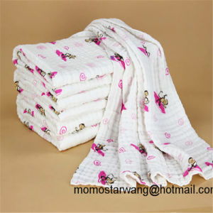 Wholesale Promotional Printing Baby Muslin Blanket Swaddle Blanket in China pictures & photos