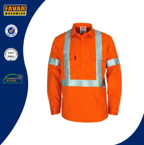 Hi Vis Reflective Safety Fire Retardant Cotton Drill Work Jacket