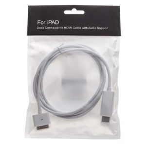 1.8m Male Coaxial Adapter High-Definition iPad iPhone to HDMI Cable pictures & photos