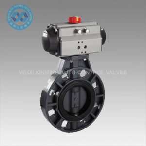 Ss/PVC/Cast Iron Pneumatic Butterfly Valve pictures & photos