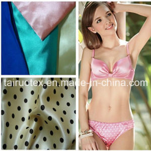 Shiny Silk Satin for Lady Bikini Clothes Fabric pictures & photos