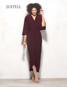 Chiffon Crepe Wrap Women Dress pictures & photos