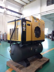 Integrated Packaged Screw Air Compressor (with tank & dryer) - 10HP pictures & photos