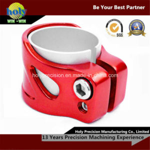 Red Anodized Double Sided CNC Aluminum Tube Clamp pictures & photos
