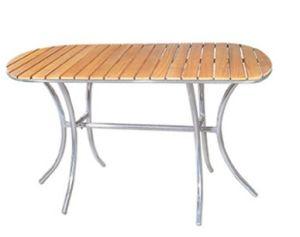 Patio Aluminum Wooden Table (DT-06260R4) pictures & photos