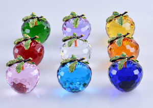 80mm Crystal Apple for Desk Top Decoration Gifts pictures & photos