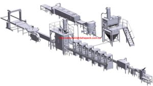 450g-900g Tin Cans Milk Powder Feeding-Mixing-Filling-Seaming-Capping Line pictures & photos