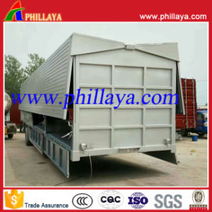 3 Axles 30ton Wing Open Van Curtain Side Semi Trailer pictures & photos
