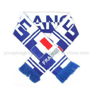 Promotion Acrylic Cheap Long Knitted Football Scarf pictures & photos
