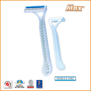 Twin Stainless Steel Blade Disposable Razor Fro Man (LY-2302) pictures & photos