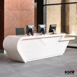 China Furniture Salon Front Office Desk White Reception Desk ...