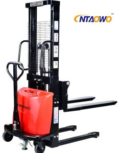 Hand Lift Stand-on Small Semi Electric Pallet Truck pictures & photos